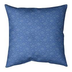 ArtVerse Katelyn Elizabeth Pizza Square Pillow Cover & InsertLeather/Suede in Blue, Size 26.0 H x 26.0 W x 2.0 D in | Wayfair ELI633-SXPG6GC