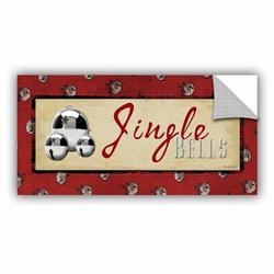East Urban Home Jingle Bells Removable Wall DecalVinyl in Brown/Red, Size 12.0 H x 24.0 W in | Wayfair 3Pug134a1224p