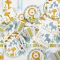 """The Party Aisle™ Jungle Girl Baby Shower Kit, Paper/Plastic in Blue, Size 16""""H X 8""""W X 6""""D 