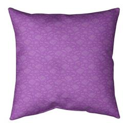 """Ebern Designs Kitterman Pizza Square Throw Pillow, Fill Material: No Fill, Polyester/Polyfill in Violet/Off White, Size 26"""" H x 26"""" W 