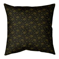 Ebern Designs Kitterman Pizza Square Throw PillowPolyester/Polyfill in Yellow, Size 26.0 H x 26.0 W x 9.5 D in   Wayfair