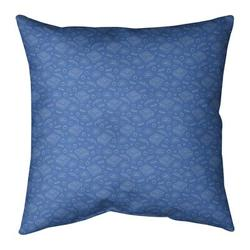 "East Urban Home Pizza Cotton Throw PillowPolyester/Polyfill in Blue, Size 26"" H x 26"" W   Wayfair 4025A0A007B04DCC816F0CDB84C3EA09"