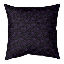 Ebern Designs Kitterman Pizza Square Throw Pillow in Indigo, Size 26.0 H x 26.0 W x 2.0 D in | Wayfair 4FA20F30A7E540A0B4CACC3F96E5D5FA