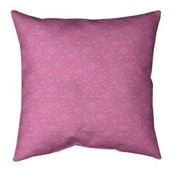 Ebern Designs Kitterman Pizza Square Throw PillowPolyester/Polyfill in Pink, Size 26.0 H x 26.0 W x 9.5 D in   Wayfair