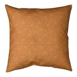 Ebern Designs Kitterman Pizza Square Throw PillowPolyester/Polyfill in Orange/White, Size 26.0 H x 26.0 W x 9.5 D in | Wayfair