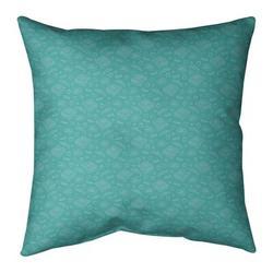 "East Urban Home Pizza Cotton Throw PillowPolyester/Polyfill in Green/Blue, Size 26"" H x 26"" W | Wayfair CD8E76F1185C4ED6901551CA1E872865"