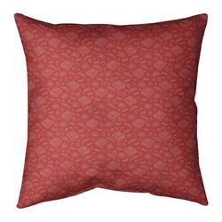Ebern Designs Kitterman Pizza Square Throw PillowPolyester/Polyfill in Red/White, Size 26.0 H x 26.0 W x 9.5 D in | Wayfair