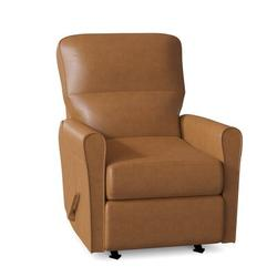 """Palliser Furniture Birch 29.3"""" Wide Power Wall Hugger Standard Recliner Faux Leather/Genuine Leather in Brown, Size 38.8 H x 29.3 W x 37.6 D in"""