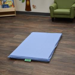 """Children's Factory Cozy Woodland 2"""" Thick Nap Mat in Blue, Size 2.0 H x 48.0 W x 24.0 D in 