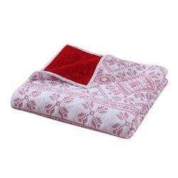 Millwood Pines Mcdougall Cross Stitch Throw in White, Size 60.0 H x 50.0 W in | Wayfair C8E54CDD2E4E40808F8FA5C30A94132F