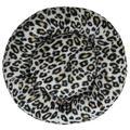 Tucker Murphy™ Pet Ferraro Ultra Plush Deluxe Comfort Pet DoughnutPolyester in Black/Brown/White, Size 7.0 H x 23.0 W x 23.0 D in | Wayfair
