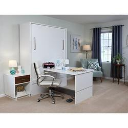 InovaHome Murphy Bed Wood in White, Size 85.0 H x 90.6 D in | Wayfair TBQ-ST-WN