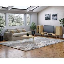 George Oliver Plotkin 4 Piece Coffee Table Set Wood in Brown, Size 18.11 H x 35.43 W in | Wayfair A552DD10B3684BC78EBCB26A366F7D01