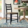 Joss & Main Thor Solid Wood Dining Chair Wood in Black, Size 35.0 H x 20.0 W x 16.5 D in   Wayfair EA78BBC8045B462899B07D126083A827