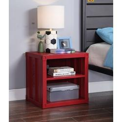 Longshore Tides Griner Nightstand Metal NightstandMetal in Red, Size 20.0 H x 20.0 W x 17.0 D in | Wayfair 9329382C2FDF4E2B8B016E78918B5626