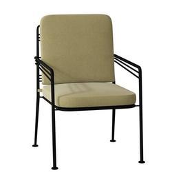 Woodard Madison Patio Dining Armchair w/ Cushion Metal in Black, Size 36.25 H x 24.5 W x 25.75 D in | Wayfair 2D0017SB-92-10N
