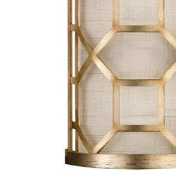 """Fine Art Handcrafted Lighting Allegretto 17"""" Sconce Fabric in Yellow/Brown, Size 12.0 H x 7.0 W x 4.0 D in 