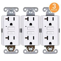 Faith 20-Amp GFCI Duplex Outlet in White, Size 4.13 H x 1.68 W x 1.55 D in | Wayfair GLS-20A-WH-03