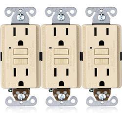 Faith 15-Amp GFCI Duplex Outlet in White, Size 4.13 H x 1.68 W x 1.55 D in | Wayfair GLS-15A-LA-03