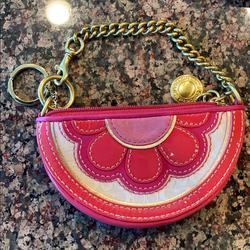 Coach Accessories | Coach Chain Purse Nwot Wristlet Change Purse | Color: Gold | Size: Os