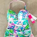 Lilly Pulitzer Swim | Lilly Pulitzer Mermaid In The Shade Tankini Top | Color: Blue/Pink | Size: Various