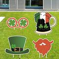 Becoler 5 PCS St. Patrick's Day Yard Sign Outdoor Lawn Decorations   St. Patrick's Day Decorations Outdoor  Irish Leprechaun Shamrock Yard Sign with Stakes  Saint Patty's Day Outdoor Decorations (#2)