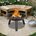 """YUN JIN 22"""" Iron Fire Pit Bowl, Portable Outdoor Wood Burning, Small Mini Domestic Heating and Baking for Patio,Backyard Outside"""