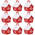DOITOOL 20pcs Christmas Candy Boxes Cute Snow House Shaped Gift Treat Boxes Xmas DIY Gift Cake Boxes Festive Wedding Holiday Party Favor Supplies