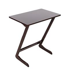 Bamboo Sofa Side Table,End Table TV Tray Bamboo Snack Table Laptop Desk Night Stand Couch Moveable Stand in Living Room for Eating Reading Working Home Office Furniture (Coffee, Z-Shaped)