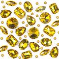Towenm Sew On Rhinestones, 160PCS Sew On Glass Rhinestone, Sewing Claw Crystals, Metal Prong Setting Flatback Rhinestones, for Costume, Clothes, Garments (Topaz/Yellow Gold, Mixed Shaps)