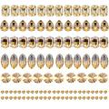 Towenm Sew On Rhinestones, 160PCS Sew On Glass Rhinestone, Sewing Claw Crystals, Metal Prong Setting Flatback Rhinestones, for Costume, Clothes, Garments (Champagne/Lt. Peach, Mixed Shaps)