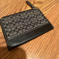 Coach Accessories | Coach Card Case | Color: Black/Gray | Size: Card Case