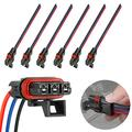 Pulse Power Plug Connector Pack of 6, Pigtail Connector compatible with 2018-2019 Polaris Ranger Crew XP 1000 RS1, General Pulse Bus Bar Power Harness Connector 6 Pack