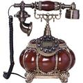 Corded Phone Landline Telephone Button Dial Antique Telephone, LCD Display Vintage Telephone Classic European Retro Landline Telephone for Home Hotel Office Corded Telephone (Color : A)