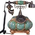 Corded Phone Landline Telephone Button Dial Antique Telephone, LCD Display Vintage Telephone Classic European Retro Landline Telephone for Home Hotel Office Corded Telephone (Color : B)