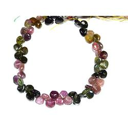 """Natural Tourmaline Smooth Plain Faceted Heart Beads Natural Tourmaline Beads Natural Tourmaline Gemstone Beads Tourmaline Gemstone Size- 6mm (Approx) 7"""" Inches Strand"""
