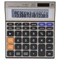 Calculator 14-Digit Large Screen Calculator Battery Solar Dual Power Office Desktop Financial Calculator