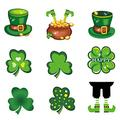 4/9Pcs St. Patrick's Day Decorations Outdoor Garden Lawn Yard Sign with Stakes Shamrock Yard Stake Signs Irish Saint Patricks Day Decorations Clover Party Green Party Decorations (Multicolor2)