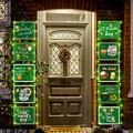 Crenics St Patricks Day Porch Sign Banner with Lights, St Patrick's Day Shamrock Front Door Banner, St Patricks Day Hanging Decor for Home Outdoor Indoor Wall Decorations Supplies
