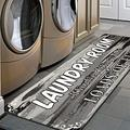 HEBE Farmhouse Laundry Room Rug Runner 2'x6' Washable Non Skid Kitchen Rugs Washhouse Mat Extra Long Printed Runner Rug Floor Carpet for Laundry Room Kitchen Floor,Grey