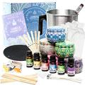 Candle Making Kit - Soy Candle Making Kits for Adults Beginners - Candle Making Supplies - Candle Pouring Pot, Soy Wax, Candle Wicks, 6 Fragrance Oil for Candle Making - Arts and Crafts for Adults