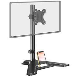 MOUNT PRO Single Monitor Stand - Free Standing Full Motion Monitor Desk Mount Fits 1 Screen up to 32 inches,17.6lbs with Height Adjustable, Swivel, Tilt, Rotation, VESA 75x75 100x100