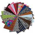 """David Angie All Kinds of Faux Leather Sheet Bundles Variety Velvet Faux Leather Sheets 7.7"""" x 12.9"""" (20 cm x 33 cm) for Leather Earrings Bows DIY Crafts (Velvet)"""