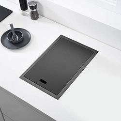 JJZXD Hidden Black Kitchen Sink Single Bowl Bar Small Size Sink Stainless Steel Balcony Sink Concealed Black Kitchen Sink Bar Sink