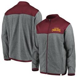 """Men's Fanatics Branded Heathered Gray Cleveland Cavaliers Polar Full-Zip Jacket"""