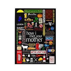 H-ow I M-et Puzzle Your Mot-her 500 Piece Wooden Puzzles For Family Kids Adults 20.4in X 15in Jigsaw