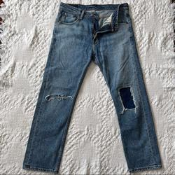 Levi's Jeans | Levi Strauss Mens Ripped Patch Jeans | Color: Blue | Size: 29