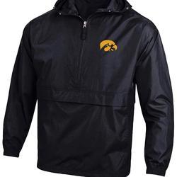 Nike Jackets & Coats | Nike Ncaa Half Zip Packable Hooded Wind Jacket | Color: Black/Gray | Size: L