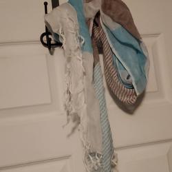 Ralph Lauren Accessories | Multiple Color Scarf | Color: Blue/Tan | Size: Os