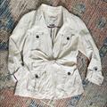 Anthropologie Jackets & Coats   Anthropologie   Nepal Belted Safari Jacket   Color: Cream   Size: 6